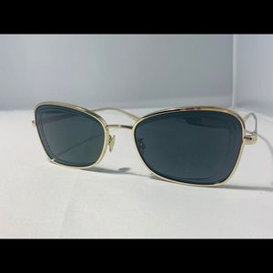 NEW $460 !! CHANEL Gold Rectangle Sunglasses 4254